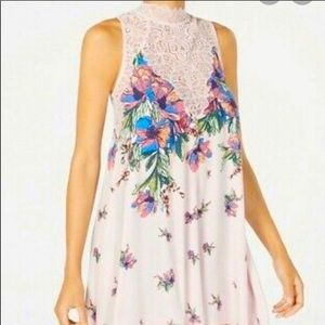 NWT Free People Marsha Lace High Neck Floral dress